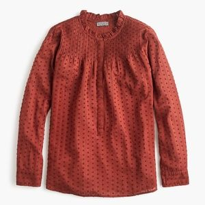 J. Crew Point Sur Ruffle Popover - Red - XL - NWT